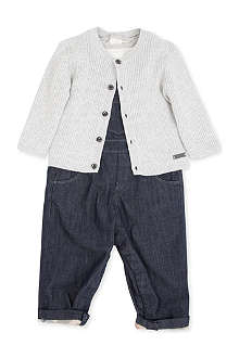 RALPH LAUREN Three-piece dungaree set 1-12 months