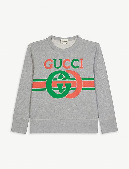 GUCCI GG logo cotton jumper 4-10 years
