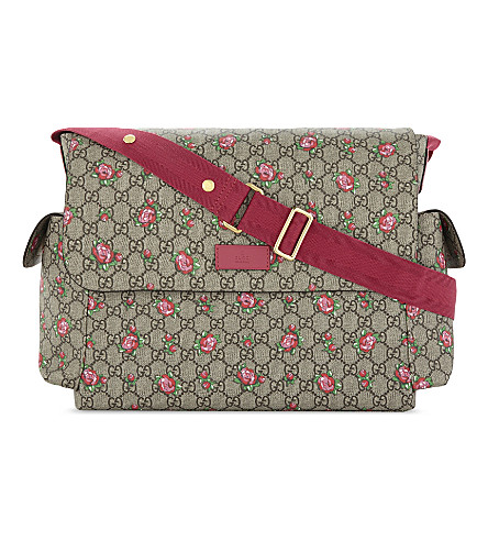 GUCCI Rose supreme canvas changing bag (Rose