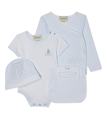 GUCCI Four piece gift set 0-12 months (Optical+white
