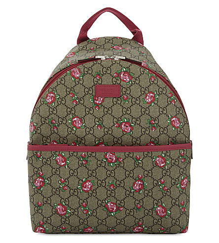 GUCCI Rose canvas backpack (Be.rose