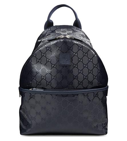 GUCCI GG Supreme backpack (Blue