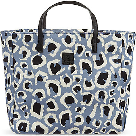 GUCCI Leopard print canvas tote (Blue
