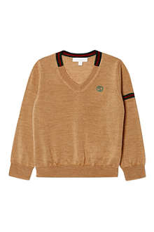 GUCCI Band-detail wool jumper 3-36 months