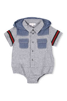 GUCCI Hooded shirt baby-grow 0-12 months