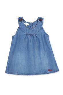 GUCCI Chambray pinafore dress 6 months-3 years