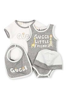 GUCCI Four-piece gift set 0-9 months