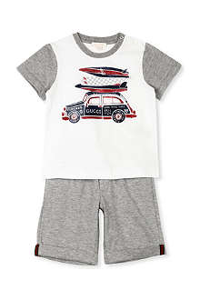 GUCCI Car print gift set 3-36 months