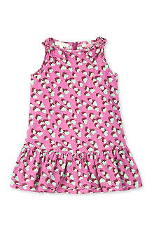 GUCCI Heart-print bow dress 0-24 months