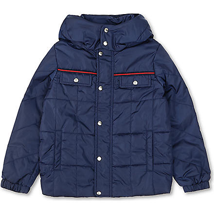 GUCCI GG nylon quilted jacket 4-12 years (Navy