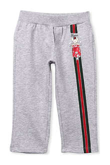 GUCCI Bear and web detail jogging bottoms 3-36 months