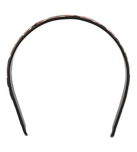 GUCCI Leopard headband (Mauve