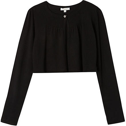 GUCCI Pleated bolero cardigan 4-12 years (Black