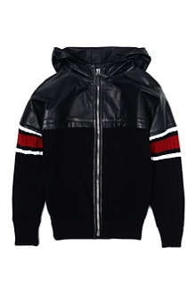 GUCCI Leather-detail hooded jacket 6-12 years
