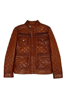 GUCCI Quilted leather jacket 8-12 years
