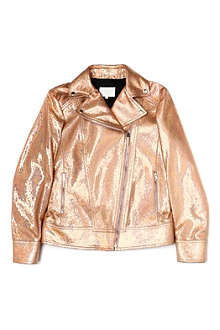 GUCCI Metallic leather biker jacket 8-12 years