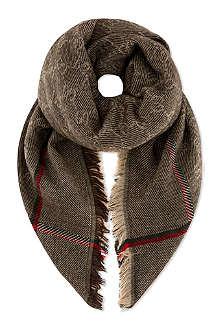 GUCCI Classic border scarf