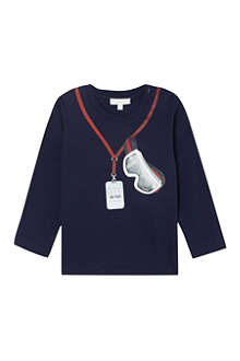 GUCCI Ski goggle print long-sleeved t-shirt 3-36 months