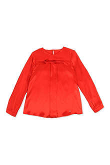 GUCCI Pleated silk blouse 6-12 years