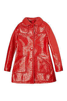 GUCCI Patent crinkle coat 4-12 years