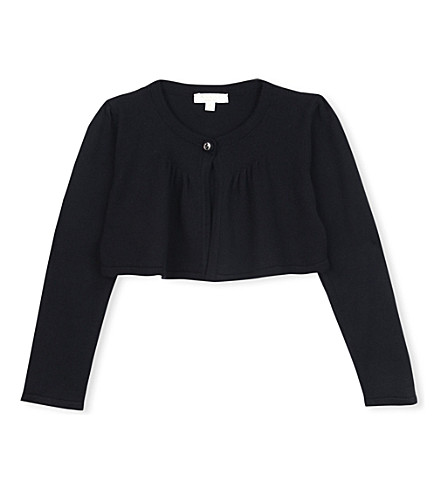 GUCCI Fine-knit bolero cardigan 12-36 months (Black