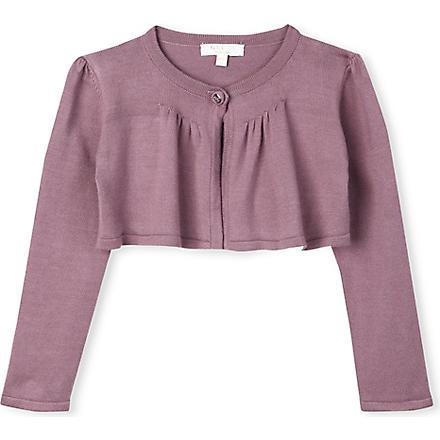 GUCCI Fine-knit bolero cardigan 3-36 months (Mauve