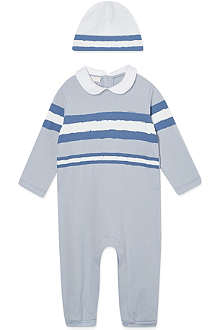 GUCCI Striped onesie & hat set 0-12 months