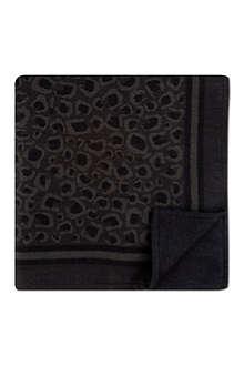 GUCCI Grey leopard print blanket
