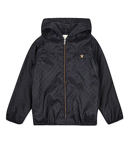 GUCCI Hooded shell jacket 4-12 years (Navy