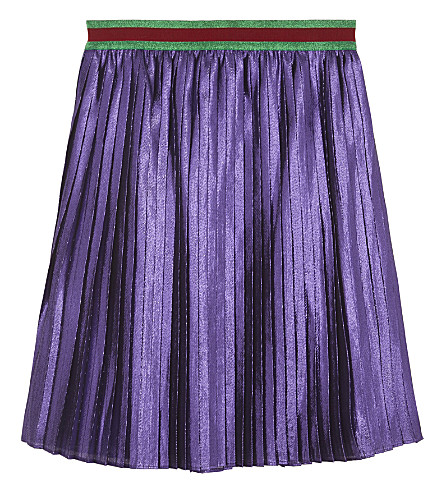 GUCCI Lurex pleated skirt 4-10 years (Purple