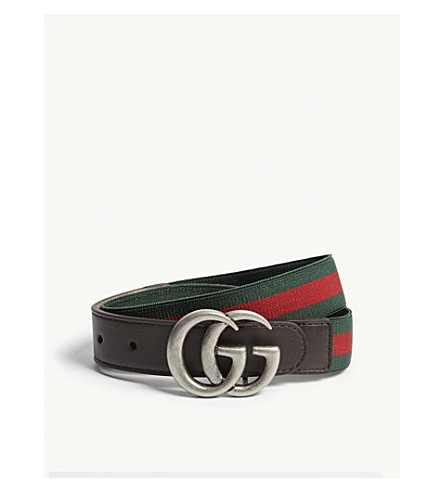 GUCCI 网条皮装饰带 (绿色/红色/绿色