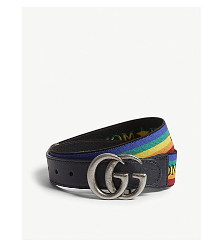 GUCCI GG rainbow-striped belt (Rainbow