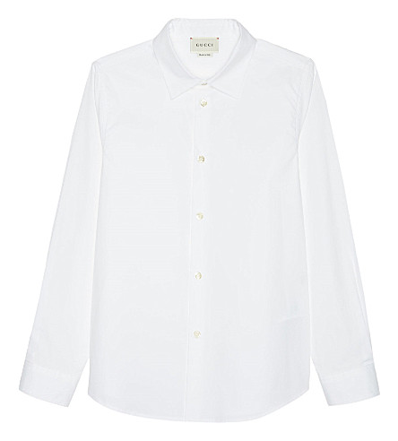 GUCCI Classic cotton shirt 4-12 years (Optic+white
