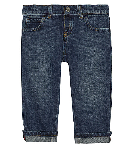 GUCCI Web stripe denim jean 6-36 months (Orbit