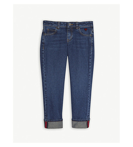GUCCI Heart pocket cotton denim jeans 4-12 years (Blue