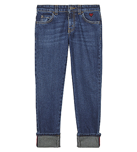 GUCCI Heart pocket cotton denim jeans 4-12 years (Orbit