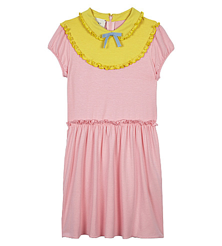 GUCCI Frill jersey dress 4-12 years (Wild rose