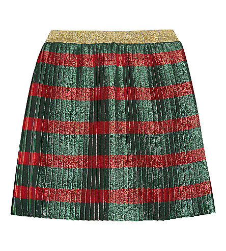 GUCCI Lurex striped skirt 4-12 years (Red+diamond