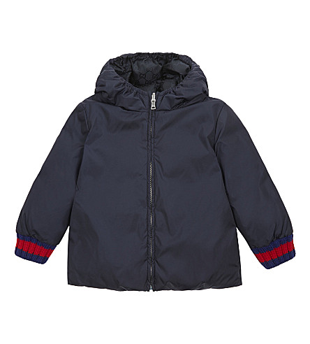 GUCCI Reversible nylon puffer jacket 9-36 months (Navy