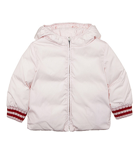 GUCCI Padded down reversible jacket 6-36 months (Rose