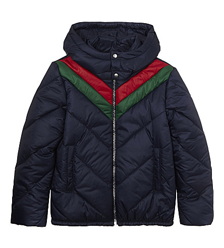 GUCCI Hooded puffer jacket 4-12 years (Classic+blue