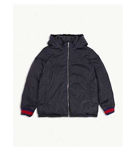 GUCCI Reversible 'GG' jacquard quilted jacket 4-12 years (Navy