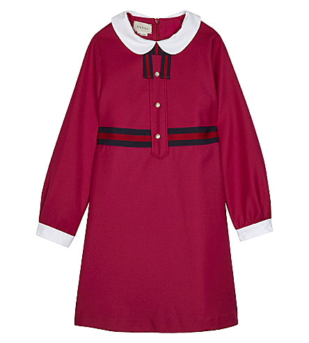 GUCCI Peter Pan collar dress 4-12 years (Lovely+fucsia