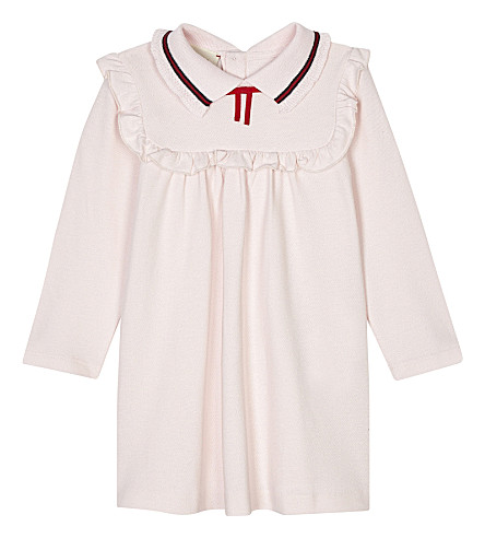 GUCCI Frilled cotton polo dress 6-36 months (Pale+pink