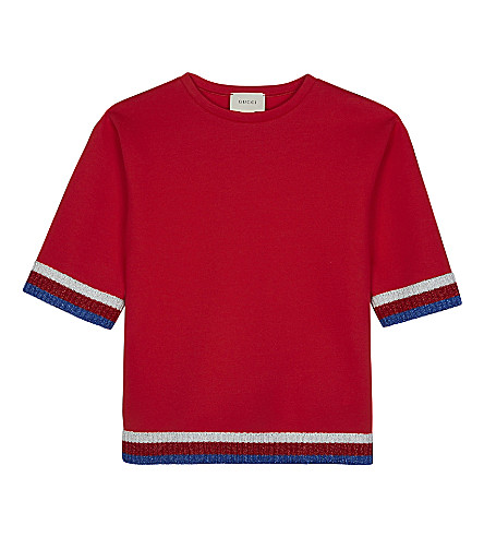 GUCCI Web trim cotton neoprene top 6-12 years (Live+red