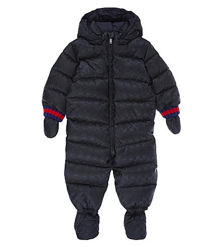 GUCCI Logo snowsuit 6-18 months (Navy