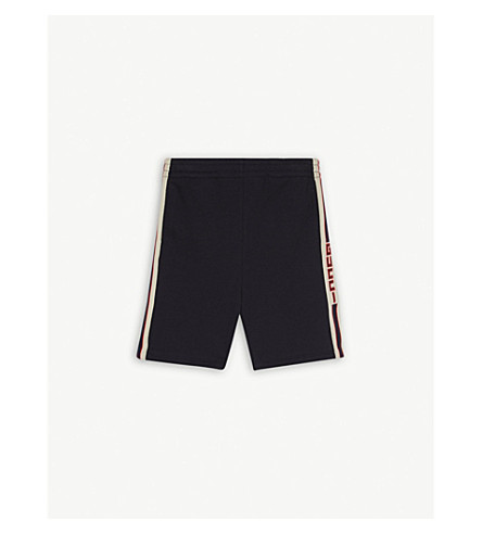 GUCCI Web stripe cotton shorts 4-12 years (Grey