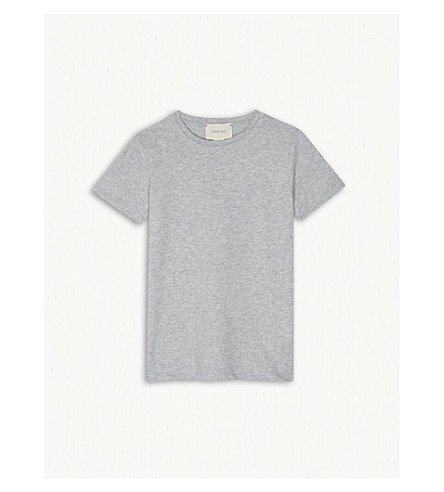 GUCCI U.F.O. printed cotton T-shirt 4-12 years (Grey