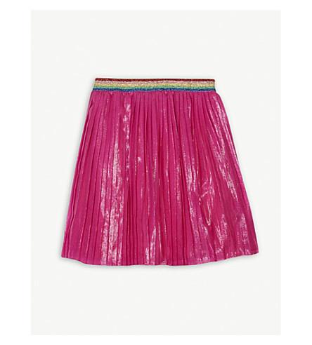 GUCCI Rainbow silk-blend skirt 4-12 years (Pink
