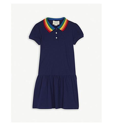 GUCCI Rainbow collar butterfly polo skirt 4-12 years (Navy